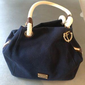 Michael Kors canvas blue bag